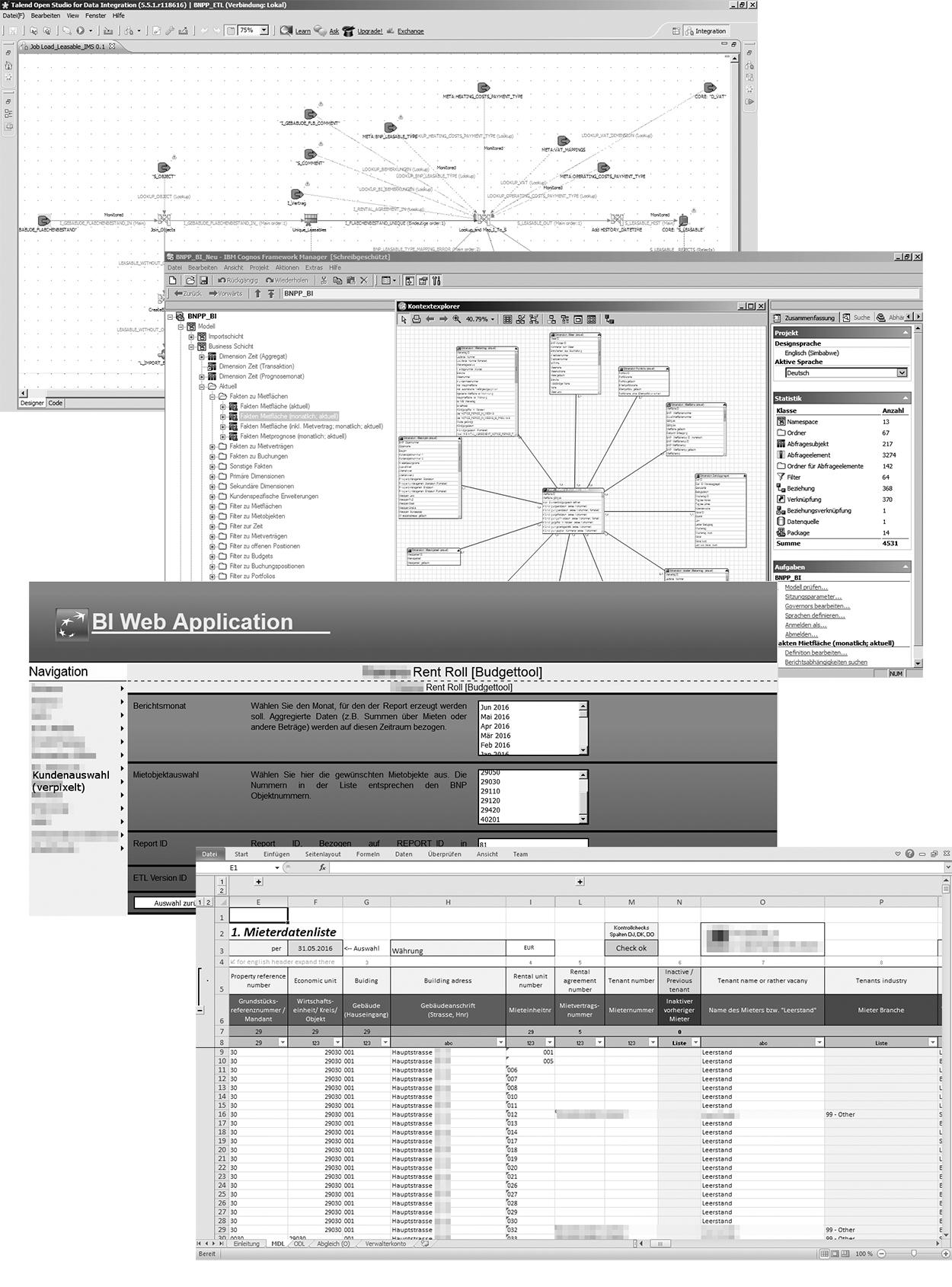 Screenshots zu BNPP BI - Projekt