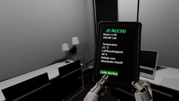 IoT-Sensoren verbinden Gerät und VR -Anwendung