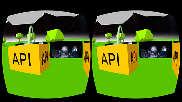 Ansicht von VR ohne VR Brille