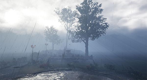 DWD VR Regen im Park