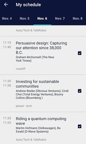 WEbSummit2018 Programm