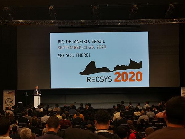Blick auf die RecSys 2020 bei der RecSys2019