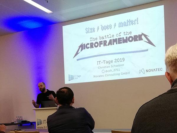 Vortrag Microframeworks auf den IT-Tagen