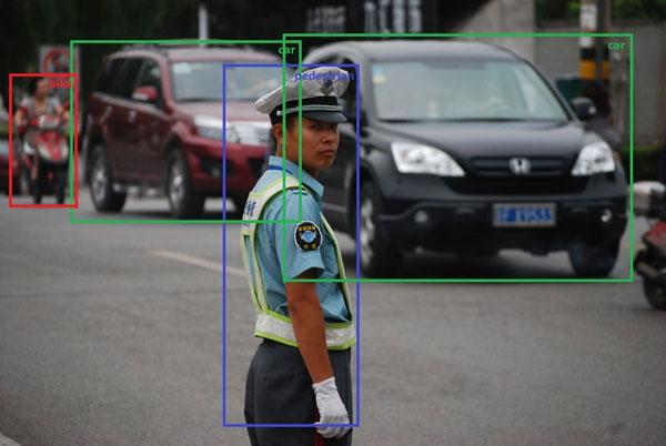 Objekterkennung bei Verkehrsüberwachung