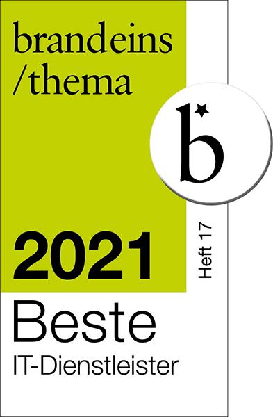 Brandeins Siegel Beste IT-Dienstleister 2021