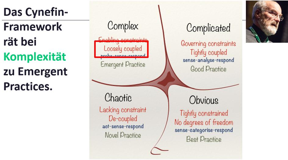 Cynefin-Framework rät bei Komplexität zu Emergent Practices