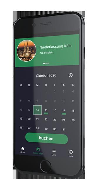Mock-Up der Sharemate App