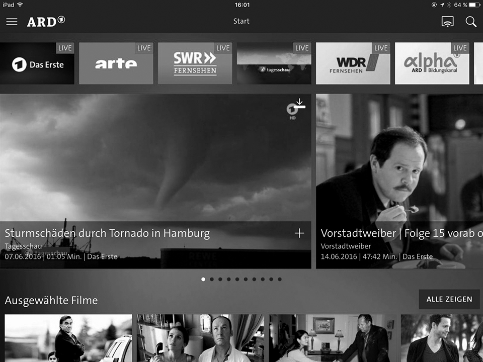 Screenshot ARD Mediathek