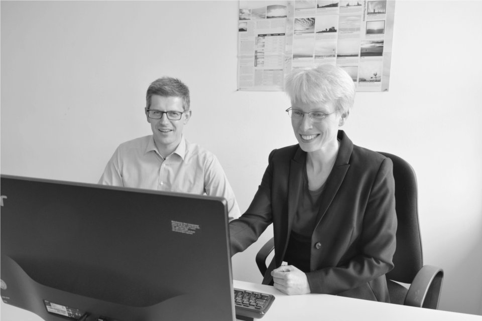 Christine und Ralph arbeiten