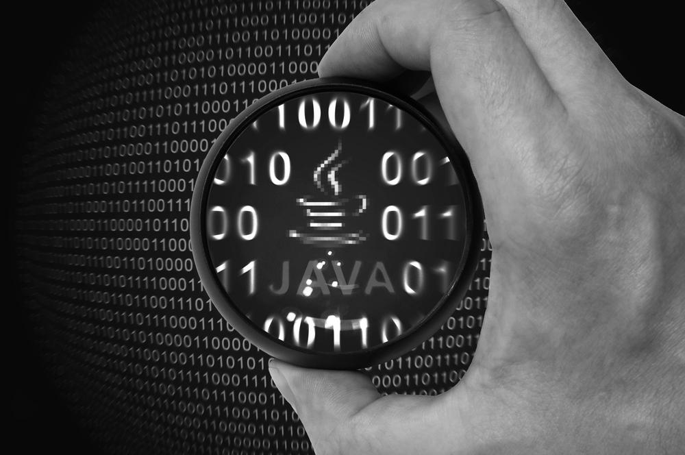 Java inmitten eines Binärcodes