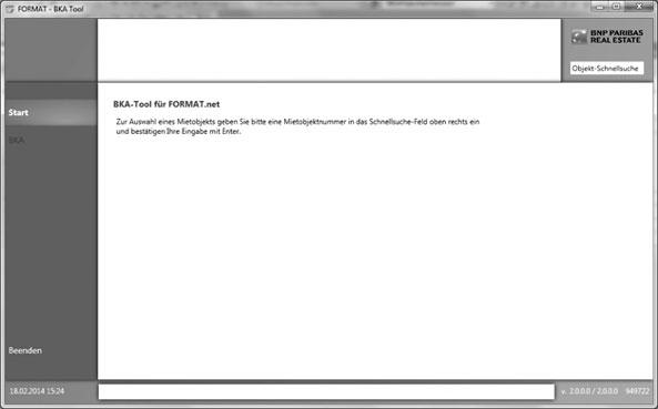 Screenshot BKA-Tool